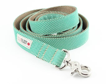 Green Pinstripe Dog Leash