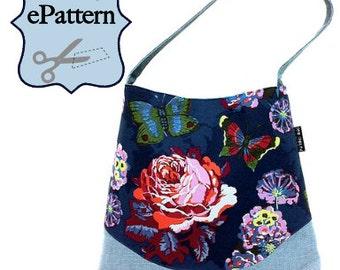 Sew Spoiled Wave Shoulder Bag with Removable Zipper Pocket Divider