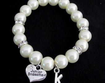 Demoiselle d'honneur Junior Bracelet, Bracelet de perles demoiselle d'honneur Junior cadeau - Bracelet demoiselle d'honneur Junior - mariée Mini Bracelet gratuit expédition aux USA