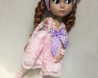 "Patience 14"" BJD Tonner Clothes  - pink little roses"