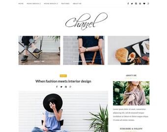 Wordpress theme-Wordpress template- Feminine wordpress theme - Responsive WordPress Theme - Fashion template - Wordpress blog theme - Chanel