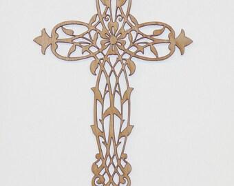 Floral vine cross