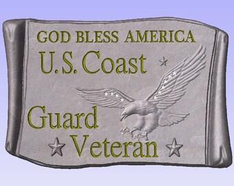 Concrete mold to make Coast Guard Military Plaque