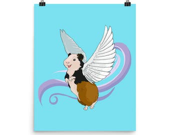 When (Guinea) Pigs Fly Matte Poster