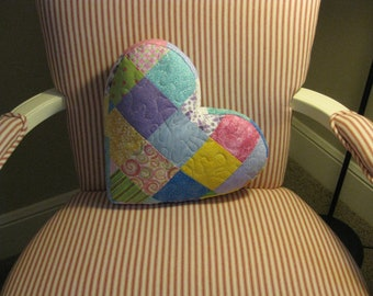 CLOSE OUT SALE Quilted Patchwork Pillow
