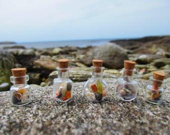 Tiny Ocean Treasure Bottle Necklace