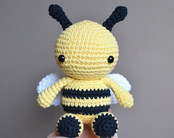 Fern the Bee: Crochet Bumble Bee Toy, Bumble Bee Amigurumi, Stuffed Animal, crochet toy, cute, crochet bee toy