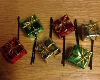 Beard Art Baubles Gift Box Mylar Baubles Christmas Hipster Gift Set of 6 Baubles