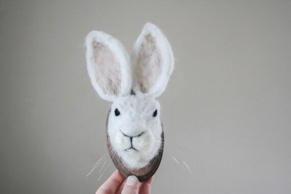 Felt Faux-Taxidermy Hare (Lepus)
