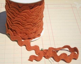 "Rust Orange Rick Rack - Jumbo Cotton Ric Rac - Sewing Trim - 11/16"" Wide"