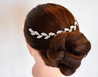Bridal Hairpiece | Wedding Halo | Bridal Leaf Headpiece | Silver Leaf Halo | Bridal Accessories | Wedding Accessories | Silver leaf