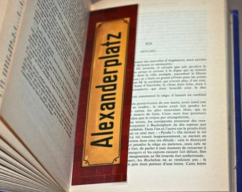 Laminated bookmarks, Berlin Theme. The mythical place avenue plate