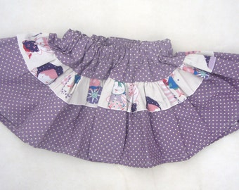 Purple spotted skirt to fit 2-3 years