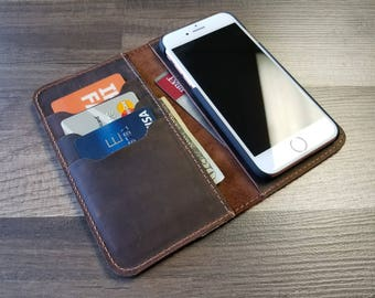 Samsung Galaxy S6 Case, S6 Edge, Case Leather, Samsung Galaxy  Leather Wallet, PERSONALIZED Leather iPhone Case,  Gifts,