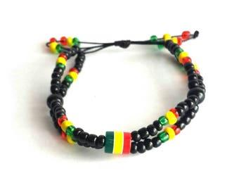Shamballa bracelet, Rasta color bracelet, shamballa bead bracelet, handmade bracelets