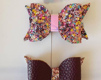 Autumn sparkle hair bow set