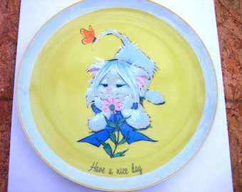 Vintage 1970's Friendly Greeters Ceramic Sunshine Collectible Plate