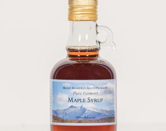 Mansfield Maple 250ml Pure Vermont Maple Syrup in Glass Bottle (Choice of Grade)