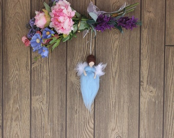 Grodno Luck Angel; Needle Felted Doll; Blue Angel; Fairy Dolls; Waldorf Inspired