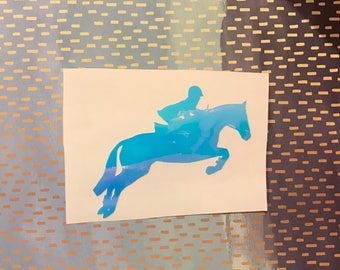 Hunter Jumper Equestrian Decal