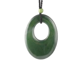 Black and Green Nephrite Jade Pendant, 2465-1