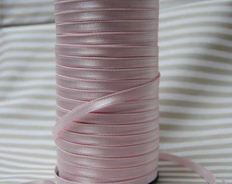 6 mm, ballerina pink satin ribbon