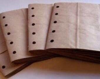 6X6 SEWN  paper bag scrapbook albums/piecing- 4 BROWN books