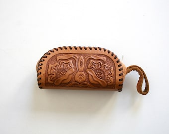 Tooled Leather Case Coin Pouch
