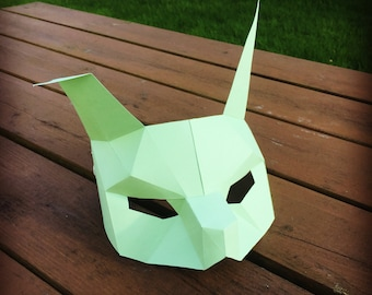 PDF Rabbit Half Mask/Animal Head/Paper Mask/DIY Easter Mask/Easter Bunny/Paper Rabbit Mask/DIY kit rabbit mask/Rabbit paper kit