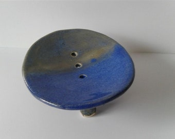 blue and green soap dish