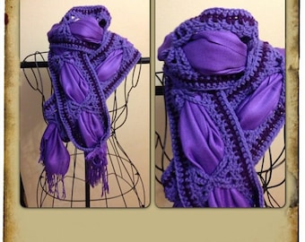 Butterfly Scarf in Ultra Violet