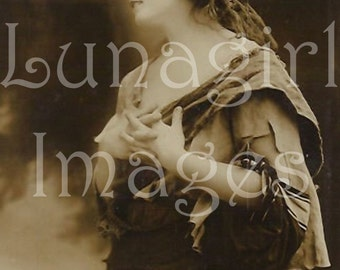 Download VINTAGE GYPSY IMAGES, women Victorian girls Mignon French postcards, gypsies peasant digital ephemera antique photos for art crafts
