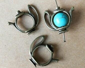 20pcs 22x18mm Antique Bronze TeaPot charm, Tea Pot pendant Charm Pendant ABC05