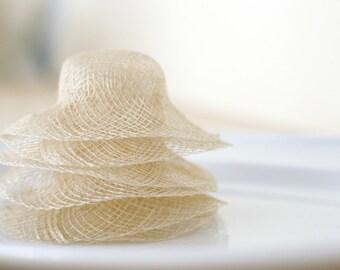 Miniature Natural Woven Doll Hats/Sinamay Sun Hats/Craft Hats/DIY Bridal Shower