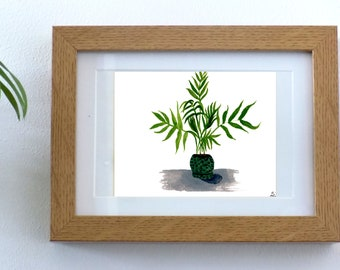 Palm Pot Plant A5 Print