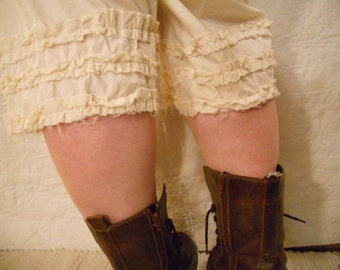 on the boardwalk pantaloons cotton bloomers with raw edge ruffles
