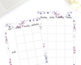 2017 monthly planner, Teacher planner, Student planner, Daily planner, Weekly planner, Planner inserts, Planner printable