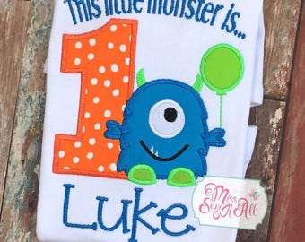 Monster Birthday Shirt, Monster Birthday, Custom Monster Shirt, Monster 1st Birthday Shirt, 1st Birthday Monster Shirt, Monster Birthday