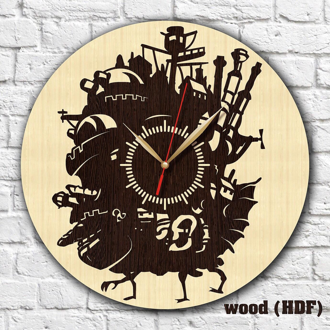 Ghibli Studio Uhr Holz Uhr HDF-Acryl Uhr Fan Geschenk