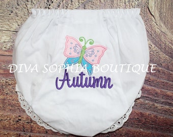 Butterfly Bloomers - Personalized Diaper Cover - Birthday