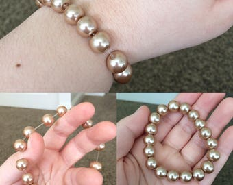 Copper Pearl Bracelet