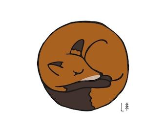 Polka Fox Print