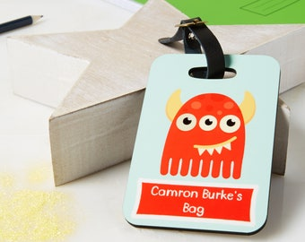 Luggage Tag - School Tag - Childrens name tag - Kids Bag - Identification Tag - Name Tag - Childrens bag tag - Bag tag - lunch box name tag