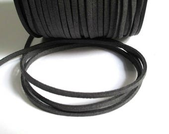 Gray suede 3 mm suede cord 3 m