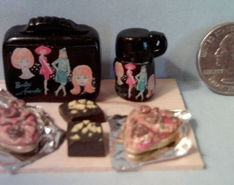 Barbie Sized Vintage Barbie Fashions Lunch Box Set