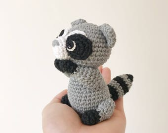 RACCOON crochet, crochet raccoon, amigurumi raccoon, raccoon gift, gift for kids, raccoon baby gift, raccoon christmas gift, gift for her