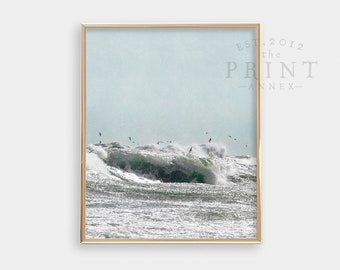 Ocean Surf PRINTABLE Wall Art - Beach Print - Minimalist - Modern Nursery Decor - Apartment Decor - Digital Art - Waves - SKU:5199
