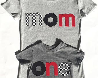 Race Car Birthday, Racing Theme Birthday,Family Birthday, one, two, four, mom, dad,bro, First Birthday, Fabric Iron On Appliques