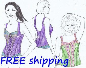 CORSET Pattern BUS2 for Bustiers FREE Shipping by Merckwaerdigh
