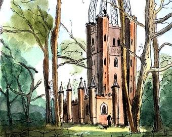 The Waterloo Tower at Quex Park, Birchington Kent. Lovely Gift    Idea